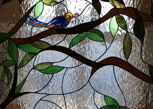 Detail of a stained glass Royalty Free Stock Photography