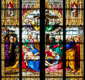 Detail of the stained glass window Royalty Free Stock Photography