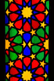 Detail of stained glass window in  Nasir al Molk Stock Images