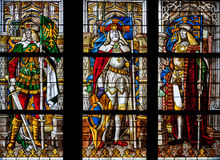 Detail of the stained glass window Royalty Free Stock Photos