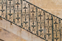 Detail of a stairs and handrail, Malta Stock Photo