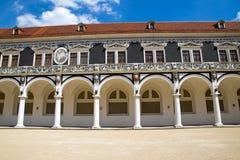 Detail of the Stallhof in Dresden Stock Photo