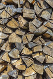 Detail of stapled fire wood Stock Photography