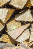 Detail of stapled fire wood Royalty Free Stock Photo