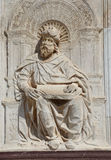 Detail of the statue of the artistic facade of famous Monastery Stock Photography
