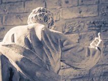 Detail of the statue of behind the cathedral of Palermo, Sicily. Italy Royalty Free Stock Photography