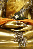 Detail of statue of buddha, Royalty Free Stock Photo