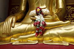 Detail of statue of buddha Stock Photography