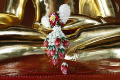 Detail of statue of buddha, Royalty Free Stock Image