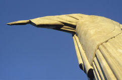 Detail of the statue of Christ the Redeemer, Rio de Janeiro, Bra. Zil. The statue, 30m high and weighing over 1000 metric tons, was first planned to be completed Royalty Free Stock Images