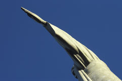 Detail of the statue of Christ the Redeemer, Rio de Janeiro, Bra Royalty Free Stock Photos