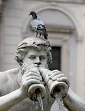 Detail of the statue of the fountain in Piazza Navona Royalty Free Stock Photography
