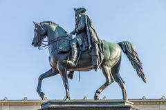 Detail of a statue of Frederick II (the Great) Royalty Free Stock Images