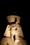 Detail of statue in Karnak's temple during a hot summer night, Luxor Royalty Free Stock Images