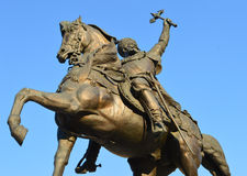 Detail: statue of Michael the Brave (Mihai Viteazul), Bucharest Royalty Free Stock Images