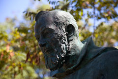 Detail of the statue of Padre Pio Royalty Free Stock Photo