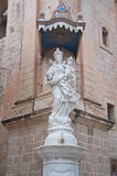 Detail of the statue of the Virgin Mary church in Mdina , Malta. Europa Royalty Free Stock Images