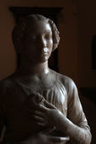 Detail of statue of woman in renaissance era Royalty Free Stock Photos