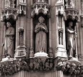Detail of statues on a cathedral Royalty Free Stock Photo