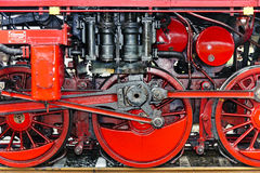 Detail of a steam locomotive Royalty Free Stock Photo