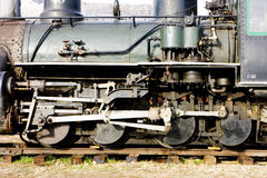 Detail of steam locomotive Stock Image