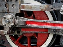 Detail of steam train wheel Royalty Free Stock Images