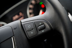 Detail of a steering wheel Royalty Free Stock Images