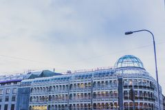 Detail of the Stephen`s Green Shopping Centre in Dublin city cen Royalty Free Stock Photography