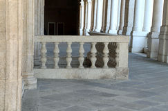 Detail of the stone balustrade of the Palladian Basilica in Vice. Balustrade of the Palladian Basilica in Vicenza city in Italy Stock Photos