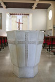Detail of stone baptistery royalty free stock images