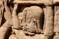 Detail of stone carving Royalty Free Stock Images