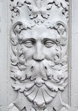 Detail of stone carving of a green man Royalty Free Stock Images