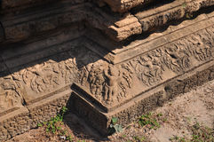 Detail of stone carvings in Angkor Wat Royalty Free Stock Images