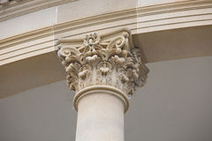 Detail of Stone Column Stock Image