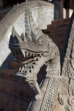 Detail of a stone dragon at Haw Pha Kaeo temple in Vientiane, Laos Royalty Free Stock Photo