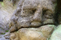 Detail of the stone head Stock Image