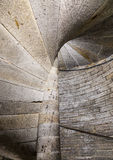 Detail of a stone spiral staircase Royalty Free Stock Photo
