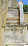Detail stone staircase in the courtyard of the Swabian castle Royalty Free Stock Photography