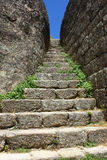 Detail of a stone stairway Royalty Free Stock Image