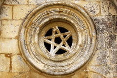 Detail of a Stone Star. At the Batalha MOnastery, POrtugal Stock Photo