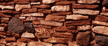 Detail, stone wall of ancient pueblo Royalty Free Stock Photos