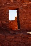 Detail, stone wall of ancient pueblo house Stock Images