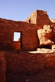 Detail, stone wall of ancient pueblo house Royalty Free Stock Image