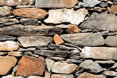 Detail of stone wall Stock Photos