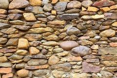 Detail of  stone wall at Inca Fortress in Ollantaytambo, Peru Royalty Free Stock Photography