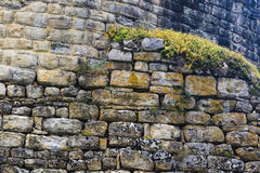 Detail of stone wall of Kuelap fortress Stock Photo