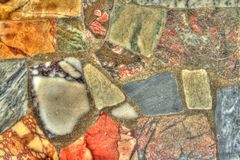 Detail of stones in HDR. Detail of a stone wall, shoot in HDR Stock Photography