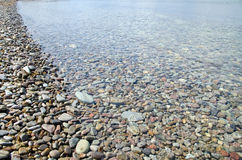 Detail of stony coast. At the island oland in Sweden Stock Photography