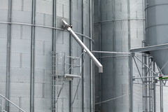 Detail of storage grain silo Royalty Free Stock Images