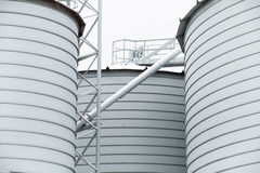 Detail of storage grain silo Stock Photos